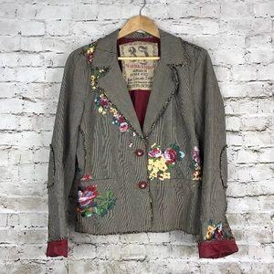 Johnny was J3 workshop rose cascade jacket
